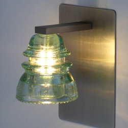LED Insulator light Sconce - rinsulator light sconce by Railroadware,  made in USAailroadware