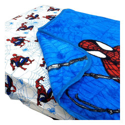 Store51 LLC - Spider-Man Webslinger Toddler Bed Fitted Sheet Blanket Set - Features: