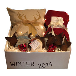Season in a Trunk - Winter Trunk-Glitz - Celebrate this winter season with texture and color designed to brighten your space and lift your mood.  The Glitz Package will add a touch of holiday glam to your home this season.  The gold metallic accents brighten up this package and gives you that trend setting look you've always wanted. Also makes a great gift for that extra special someone.