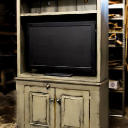 """Fairfield 48"""" Pewter Open TV Cabinet - Wood Designs Inc dba Shaka Studios.  All Rights Reserved."""