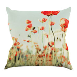 "Kess InHouse - Bree Madden ""Poppy"" Throw Pillow (20"" x 20"") - Rest among the art you love. Transform your hang out room into a hip gallery, that's also comfortable. With this pillow you can create an environment that reflects your unique style. It's amazing what a throw pillow can do to complete a room. (Kess InHouse is not responsible for pillow fighting that may occur as the result of creative stimulation)."