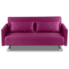 modern sofa beds Dendera B Pink Gloss Sofa Sleeper