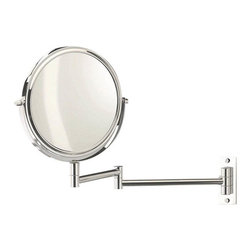 WS Bath Collections - Smile Swiveling Magnifying Mirror 5x/1x - Magnifying Makeup Mirror