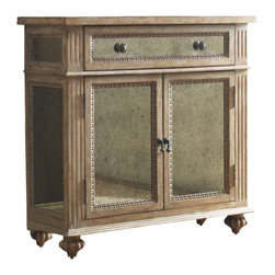 Hooker Furniture - Antique Mirrored Chest - It doesn't matter whether you fill this enchanting chest with dishes, books, DVDs, files, towels or toilet paper. What matters is which lucky room gets to keep it. Use this beautifully accented cabinet to not only tidy up, but also improve the look of any kitchen, bathroom, bedroom, office, hallway or living room.
