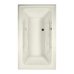 """American Standard - American Standard 2742.048WC.222 Town Square EcoSilent Whirlpool,  Linen - American Standard 2742.048WC.222 Town Square EcoSilent Whirlpool,  Linen. This whirlpool tub features an acrylic construction with fiberglass reinforcement, a tub-for-two design with a center drain and dual backrests, dual molded-in arm rests, dual integrated faucet/accessory deck areas, a pre-leveled tub bottom, an EcoSilent whirlpool system, and an electronic on/off control. It measures 71-1/2"""" by 41-3/4"""" by 22""""."""