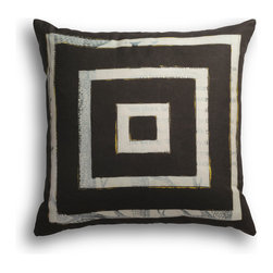 """Carrier Collective - """"Wave"""" Decorative Pillow - Crafted of linen/cotton fabrics, Carrier Collective Art Pillows are created from the original Mixed Media and Acrylic Paintings of the artist/owner Angie Carrier."""