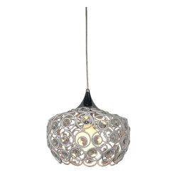 Bromi Design Holland 1-Light Cystal Pendant