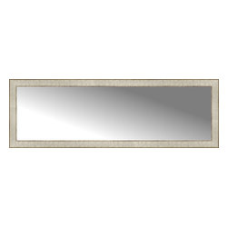 """Posters 2 Prints, LLC - 55"""" x 18"""" Libretto Antique Silver Custom Framed Mirror - 55"""" x 18"""" Custom Framed Mirror made by Posters 2 Prints. Standard glass with unrivaled selection of crafted mirror frames.  Protected with category II safety backing to keep glass fragments together should the mirror be accidentally broken.  Safe arrival guaranteed.  Made in the United States of America"""
