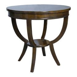 NOIR - NOIR Furniture - Scheffield Side Table in Black - GTAB223, Distressed Brown - Scheffield Collection Side Table
