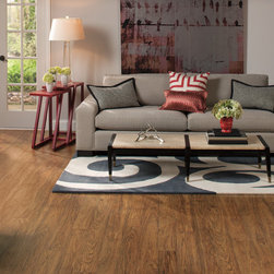 RUSTIQUE™ Toasted Hickory Planks Color: U1412 Quick-Step Laminate Flooring - RUSTIQUE™ Toasted Hickory Planks