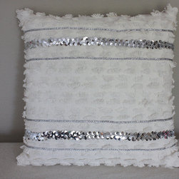 Fringed Wedding Pillow Cover by The Apiarist - Moroccan wedding blankets are stunning works of art, and incorporating that unique detail and style in the form of a throw pillow is the perfect nod towards the style in a modern living room.