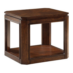 Standard Furniture - Standard Furniture Avion End Table in Walnut - Avion Occasional Tables have smooth transitional styling and a weighty substantial look that makes them a perfect fit with todays casual lifestyle.