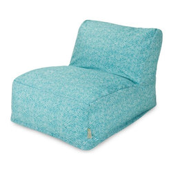 Majestic Home Goods - Teal Navajo Bean Bag Chair Lounger - Add style and functionality to your living room, family room or outdoor patio with the Majestic Home Goods Navajo bean bag chair lounger. This beanbag chair has the design of modern furniture, while still giving the comfort of a classic bean bag. Woven from outdoor treated polyester, these loungers have up to 1000 hours of U.V. protection and are able to withstand all of nature's elements. The beanbags are eco-friendly and feature a zippered slipcover. Spot clean slipcover with mild detergent and hang dry. Do not wash insert.