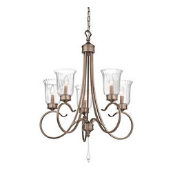 Kichler - Kichler 43238 Malina Single-Tier Candle-Style Chandelier - Product Features: