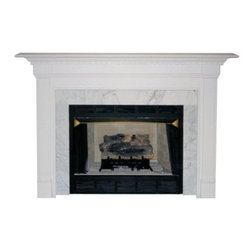 Agee Woodworks Cobblestone Wood Fireplace Mantel Surround - About This Fireplace MantelMarked by its flat-front pillars and a full-width cornice the Agee Woodworks Caprese Wood Fireplace Mantel Surround is unique in its company. Assembly is a snap since most of it is complete out of the box. The final choices are left up to you this mantel ships unfinished ready to paint or stain and install. Choose between birch or oak solids in a wide selection of custom-cut sizes.About Agee Woodworks Inc.Ashland Va.'s Agee Woodworks Inc. focuses on three key manufacturing aspects: service quality and customization. Each handcrafted Agee fireplace mantel is made to order by one specific craftsman - and with a variety of value and custom options there's one for every budget. The highest-quality materials used - and individualized construction process during which a mantel's legs header and shelf are applied to a specified-size frame - ensure long-lasting one-of-a-kind products. Mantels can be primed painted or stained before delivery or can be shipped unfinished so customers can finish them at home.