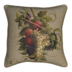 "EuroLux Home - New 20""x20"" Throw Pillow Leaf Red Fabric - Product Details"