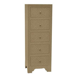 Springfield 5 Drawer Nailhead Tall Chest - Springfield 5 Drawer Nailhead Tall Chest 19 x 15 x 53.5