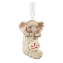 Midwest CBK - Baby's First Christmas Elephant Tree Ornament - Newborn Holiday Gift Decoration - Baby's First Christmas Elephant Tree Ornament