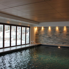 Contemporary Pool by Key Elements Construction