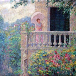"Henri Lebasque A Lady on the Balcony - 16"" x 20"" Premium Archival Print - 16"" x 20"" Henri Lebasque A Lady on the Balcony premium archival print reproduced to meet museum quality standards. Our museum quality archival prints are produced using high-precision print technology for a more accurate reproduction printed on high quality, heavyweight matte presentation paper with fade-resistant, archival inks. Our progressive business model allows us to offer works of art to you at the best wholesale pricing, significantly less than art gallery prices, affordable to all. This line of artwork is produced with extra white border space (if you choose to have it framed, for your framer to work with to frame properly or utilize a larger mat and/or frame).  We present a comprehensive collection of exceptional art reproductions byHenri Lebasque."