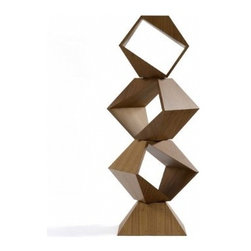 Volpi Stand by Lia Siqueira - At first glance, I thought this was simply a super-cool sculpture, which it is, but it's also a modular bookcase! YOu may decide to just stack two on a tabletop or put two-five pieces together on the floor.