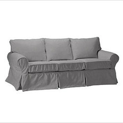 """PB Basic Slipcovered Sleeper Sofa, Box Cushion, Polyester Wrap Cushions, Everyda - Our PB Basic Collection is crafted with the same attention to quality, detail and durability that's been the hallmark of American-made furniture for hundreds of years. The sleeper sofa has long been a relaxed, comfortable favorite. 83"""" w x 35"""" d x 35"""" h {{link path='pages/popups/PB-FG-Basic-3.html' class='popup' width='720' height='800'}}View the dimension diagram for more information{{/link}}. {{link path='pages/popups/PB-FG-Basic-6.html' class='popup' width='720' height='800'}}The fit & measuring guide should be read prior to placing your order{{/link}}. Polyester wrapped cushions provide a tailored and neat look. Proudly made in America, {{link path='/stylehouse/videos/videos/pbq_v36_rel.html?cm_sp=Video_PIP-_-PBQUALITY-_-SUTTER_STREET' class='popup' width='950' height='300'}}view video{{/link}}. For shipping and return information, click on the shipping info tab. When making your selection, see the Special Order fabrics below. {{link path='pages/popups/PB-FG-Basic-7.html' class='popup' width='720' height='800'}} Additional fabrics not shown below can be seen here{{/link}}. Please call 1.888.779.5176 to place your order for these additional fabrics."""