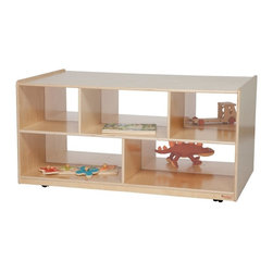 Wood Designs - Wood Designs Double Storage Island with Acrylic - 24H in. Multicolor - WD62500AC - Shop for Childrens Toy Boxes and Storage from Hayneedle.com! About WDM Inc.For 30 years Wood Designs has put passion for the enrichment and safety of children into quality wooden early learning furniture. Dennis and Debbie Gosney the couple behind this labor of love have taken their 50 years combined experience in child development furniture manufacturing and built a company at the forefront of innovation and safety. Intuitive design coupled with novel safety features like Pinch-me-not hinges and Tip resistant furniture set Wood Designs apart from the typical early learning furniture manufacturers.