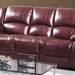 Fina Ultra Premium Italian Leather Reclining Sofa - The Fina Ultra Premium Italian Leather Reclining Sofa is wrapped in the finest top grain Italian leather. With soft comfortable oversized cushioned seating and backrests, and recliners this sofa is as gorgeous to look at as it is comfortable to relax on.
