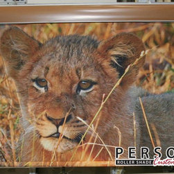 Custom Printed Roller Shades - The fierce on your shades