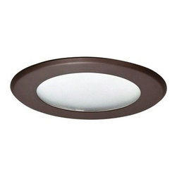 "Nora Lighting - Nora NT-5026 5"" Flat Lens Shower Trim, Nt-5026bz - *Housing and light bulb sold separately*"