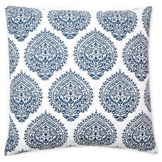 One Kings Lane - Ready Your Rooms - Falguni 20x20 Cotton Pillow, Blue