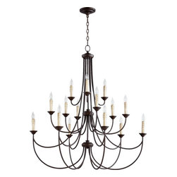 Joshua Marshal - Fifteen Light Oiled Bronze Up Chandelier - Fifteen Light Oiled Bronze Up Chandelier