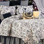 Borrego Black Quilt - Country style takes a twist when the quilt's pattern is in black on off-white. Add some sophisticated country style to your bedscape. It's especially cozy in winter months.