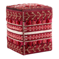 Mat-The-Basics - Abramo Square Pouf by Mat-The-Basics - Using traditional weaving methods, the Mat-the-Basics Abramo Square Pouf is a cubed ottoman with the same handcrafted luxury of their area rugs. Multiple shades of red are differentiated by plush textures that are hand-woven. The fun and playful pattern is a great way to add a splash of color or texture to a room. Mat-The-Basics has pioneered a new type of carpet - refined, handmade rugs that combine innovative design with a dedication to the highest standards of craftsmanship. These carpets, inspired from contemporary shapes and colors, are created using the traditional techniques of skilled weavers including hand-tufting, hand-weaving and hand-knotting methods.