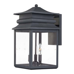 The Great Outdoors - The Great Outdoors GO 72282 3 Light Outdoor Wall Sconce from the Windward Manor - Three Light Outdoor Wall Sconce from the Windward Manor CollectionFeatures:
