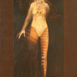 Ramon Santiago, Emerging, Oil Painting - Artist:  Ramon Santiago, American (1943 - 2001)
