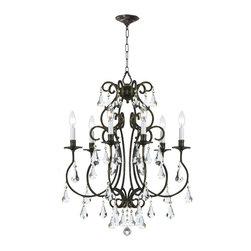 Crystorama - Ashton 6-Light Chandelier - Bulbs not included
