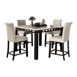 Standard Furniture - Standard Furniture Gateway White 6-Piece Counter Dining Room Set w/ Parsons Bars - Impressive proportions and bold styling give Gateway Dining a dynamic contemporary personality.