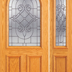"Prehung Mahogany Radius Li Entry One Sidelight Door - SKU#    107-B-1-1Brand    AAWDoor Type    ExteriorManufacturer Collection    Unique Entry DoorsDoor Model    Door Material    WoodWoodgrain    MahoganyVeneer    Price    2216Door Size Options    [30""+12"" x 80""] (3'-6"" x 6'-8"")  $0[30""+18"" x 80""] (4'-0"" x 6'-8"")  $0[32""+12"" x 80""] (3'-8"" x 6'-8"")  $0[32""+18"" x 80""] (4'-2"" x 6'-8"")  $0[36""+12"" x 80""] (4'-0"" x 6'-8"")  +$10[36""+18"" x 80""] (4'-6"" x 6'-8"")  +$10[42""+12"" x 80""] (4'-6"" x 6'-8"")  +$120[42""+18"" x 80""] (5'-0"" x 6'-8"")  +$120Core Type    SolidDoor Style    TraditionalDoor Lite Style    Radius Lite , 2/3 LiteDoor Panel Style    2 Panel , Raised MouldingHome Style Matching    Colonial , Plantation , VictorianDoor Construction    Engineered Stiles and RailsPrehanging Options    PrehungPrehung Configuration    Door with One SideliteDoor Thickness (Inches)    1.75Glass Thickness (Inches)    3/4Glass Type    Triple GlazedGlass Caming    BlackGlass Features    Insulated , TemperedGlass Style    Glass Texture    Glue ChipGlass Obscurity    Moderate ObscurityDoor Features    Door Approvals    FSCDoor Finishes    Door Accessories    Weight (lbs)    510Crating Size    25"" (w)x 108"" (l)x 52"" (h)Lead Time    Slab Doors: 7 daysPrehung:14 daysPrefinished, PreHung:21 daysWarranty    1 Year Limited Manufacturer WarrantyHere you can download warranty PDF document."