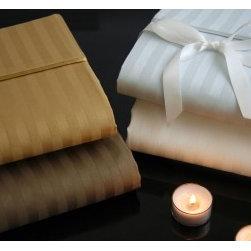 Sheet Sets Romeo 510 Thread count Stripe Egyptian Cotton Linens - Romeo 510 Thread count Stripe Egyptian Cotton Linens