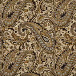 Brown Beige Gold And Tan Paisley Indoor Outdoor Upholstery Fabric By The Yard - P002011 is great for residential and commercial applications, and can be used outdoors and indoors. This fabric will exceed at least 35,000 double rubs (15,000 is considered heavy duty), and is easy to clean and maintain. In addition, this product is stain, water, mildew, bacteria and fade resistant. For superior quality and performance, this fabric is woven and solution dyed.