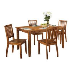 Steve Silver Steve Silver Candice 5 Piece 60x36 Dining Room Set In Oak Th