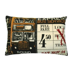 Koko Company Ticket Yellow Decorative Pillow - Yesteryear gets a stylish salute in the Koko Company Ticket Yellow Decorative Pillow. Inspired by an antique bus ticket this cotton pillow adds a handsome element to your sofa or bed thanks to the lush black white red and gold color scheme. And it's even machine washable with gentle cycle and low water temperature recommended.About The Koko CompanyFor over 10 years The Koko Company has been pouring heart and soul into bringing you a vibrant diverse collection of pieces to suit your unique style. From pillows and bedding to rugs and throws every piece is both versatile and distinctive each playing its own part in a grander global vision. Located in Long Island City NY but influenced and inspired by an array of cultures and fashions The Koko Company strives to bring the subtle elegance of natural fibers and organic design to your home accents.
