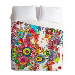 DENY Designs - Stephanie Corfee Miss Penelope Duvet Cover - Turn your basic, boring down comforter into the super stylish focal point of your bedroom. Our Luxe Duvet is made from a heavy-weight luxurious woven polyester with a 50% cotton/50% polyester cream bottom. It also includes a hidden zipper with interior corner ties to secure your comforter. it's comfy, fade-resistant, and custom printed for each and every customer.