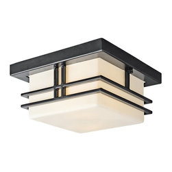 BUILDER - BUILDER 49206BKFL Tremillo Soft Contemporary/Casual Lifestyle Fluorescent Outdoo - The Tremillo™ Collection from Kichler.  Outdoor lighting with a Black finish and Satin-Etched Cased Opal glass. It is U.L listed for damp locations and 90° C Wire Rated.