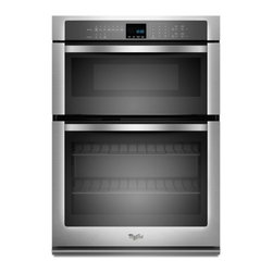 "Whirlpool - WOC54EC0AS 30"" Single Electric Wall Oven With 5.0 Cu. Ft. Self-Cleaning  Microwa - The Whirlpool WOC54EC0A features am amazing64 Cu Ft total capacityThe main oven has a 50 Cu Ft capacity and the microwave oven has a 14 Cu Ft capacity This Combination Microwave Wall Oven will satisfy all fo your cooking needs With SteamClean cleanin..."