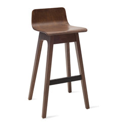 Bryght - 2 x Ava Walnut Bar Stool - A quirky addition to the modern home, the Ava bar stools make meals fun.