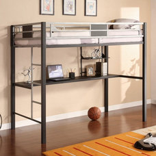 Stylist And Perfect Twin Loft Bed Design With Shelf Below