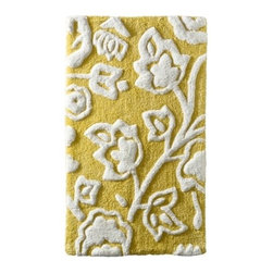 Threshold Floral Bath Rug, Yellow - Wouldn't your feet be happy if they got to step on this yellow flower bath rug every day? Mine certainly would be!