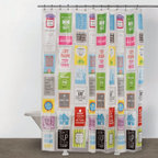 Just Sayin - Just Sayin Family Rules Shower Curtain - 3D111907MU - Shop for Shower Curtains from Hayneedle.com! Show 'em who's boss with the Just Sayin Family Rules Shower Curtain. This 70-inch long 72-inch wide shower curtain is certain to bring a smile to your face every morning when you step into your bathroom. Featuring a bold design with a mix of motivational sarcastic and witty sayings this whimsical piece has a variety of bright colors to liven up your decor and wake you up first thing in the morning. It also comes complete with metal grommets on top for easy hanging. About CHF IndustriesCHF Industries based in New York is known for its home textile products and is the largest private-label supplier of retail-specific bedding products. CHF offers a diverse range of window products like panels valances shades kitchen tiers and even window hardware. CHF innovates with fashionable solutions such as energy-efficient interlined window panels taking steps to introduce organic products to protect the environment.